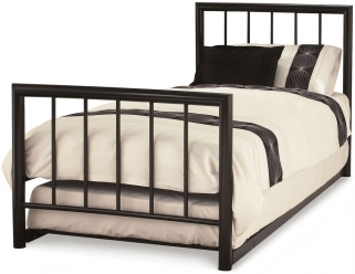 Serene Modena Black Metal Guest Bed