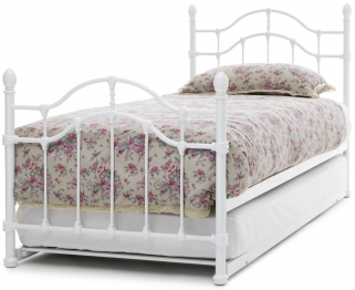 Serene Paris White Metal Guest Bed