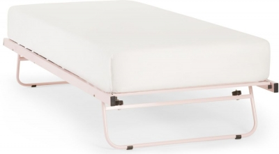 Serene Pink Gloss Metal Guest Bed