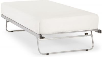 Serene Silver Metal Guest Bed