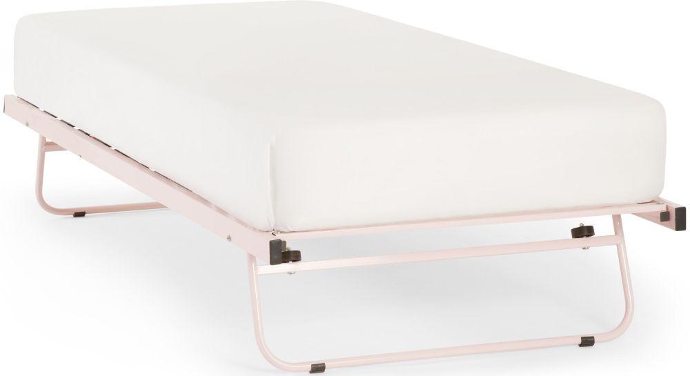 Serene Pink 3ft Single Metal Guest Bed