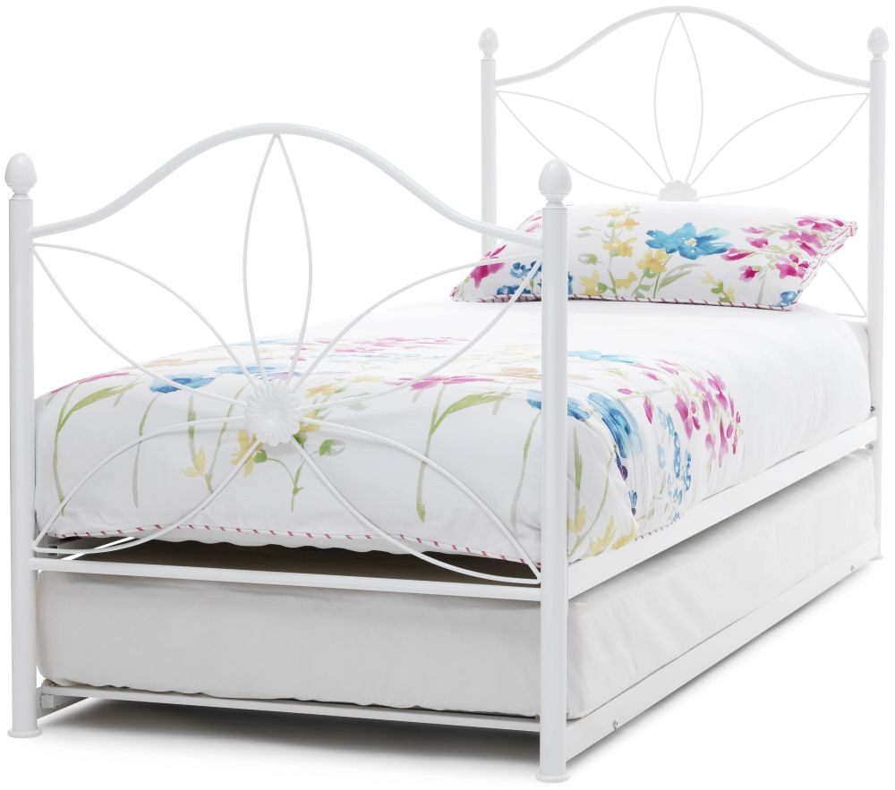 Serene Daisy White Metal Guest Bed