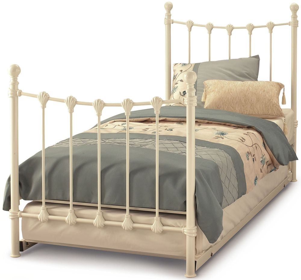 Serene Marseilles Ivory Gloss Metal Guest Bed