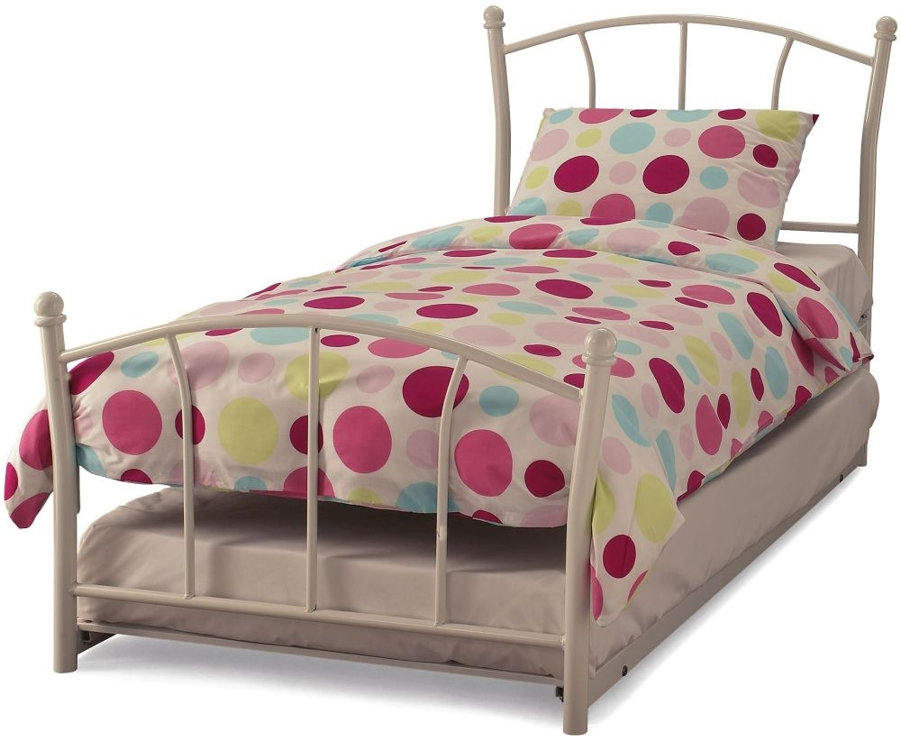 Serene Penny White Gloss Metal Guest Bed
