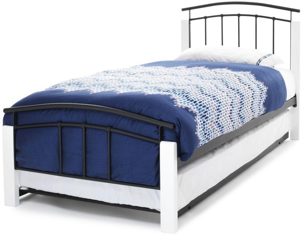 Serene Tetras White and Black Metal Guest Bed