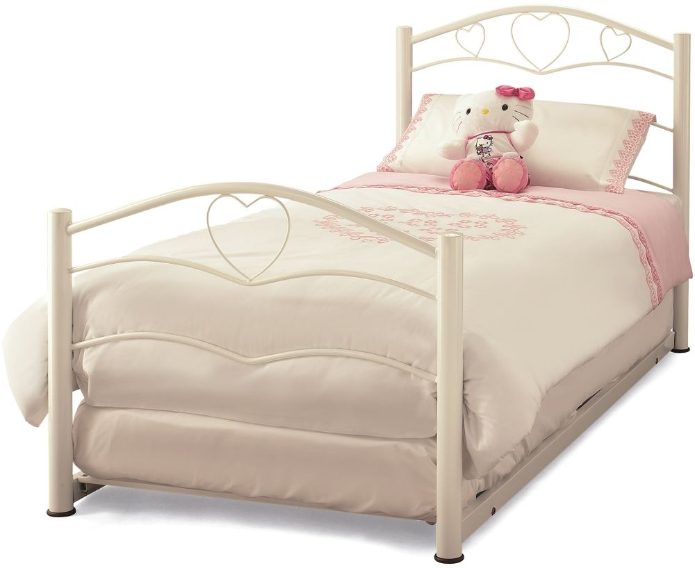 Serene Yasmin White Gloss Metal Guest Bed
