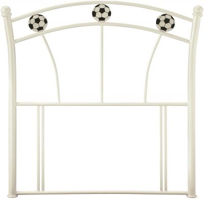 Serene Soccer White 3ft Single Headboard