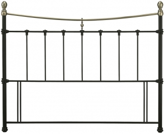 Serene Edwardian II Black with Antique Bronze Metal Headboard