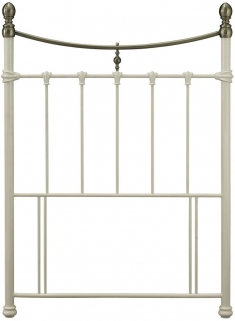 Serene Edwardian II Ivory with Antique Bronze Metal Headboard - 3ft Single