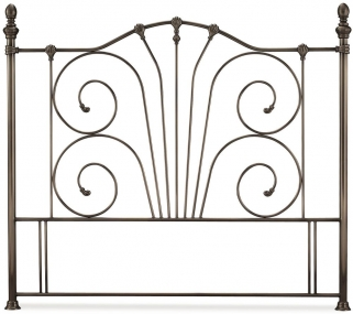 Serene Jessica Antique Nickel Metal Headboard