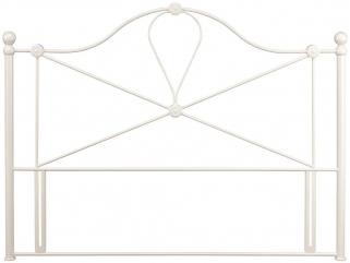 Serene Lyon Ivory Gloss Metal Headboard
