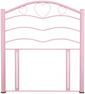 Serene Yasmin 3ft Pink Metal Headboard