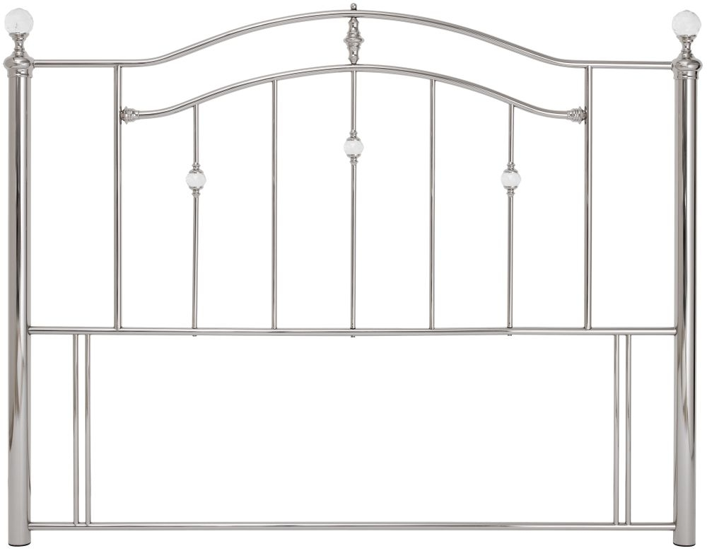 Serene Ashley Nickel Metal Headboard