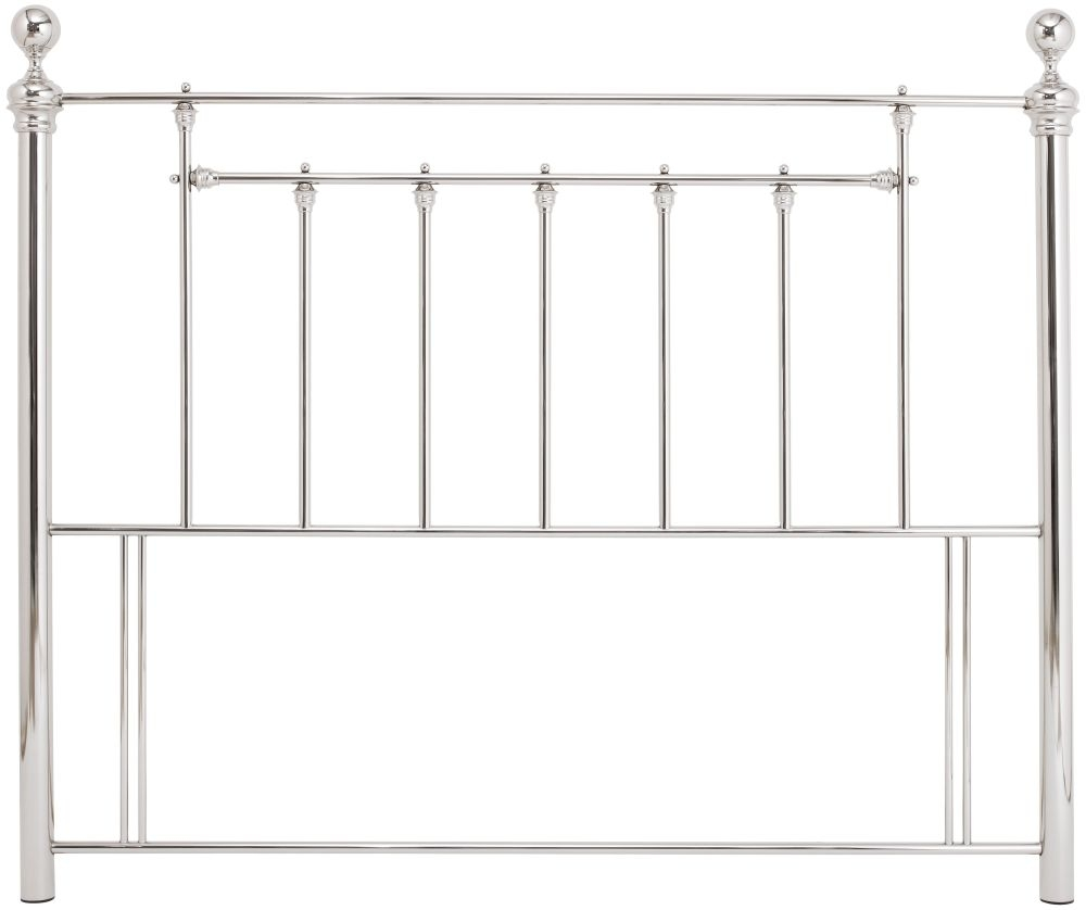 Serene Benjamin Nickel Metal Headboard