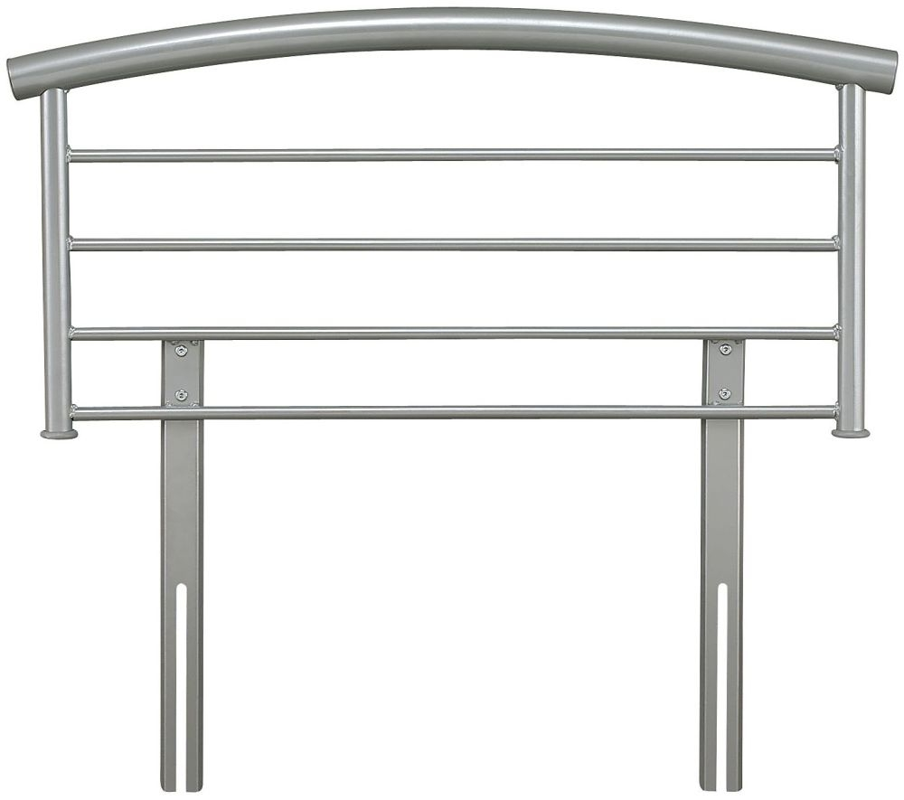Serene Brennington Silver Metal Headboard - 3ft Single