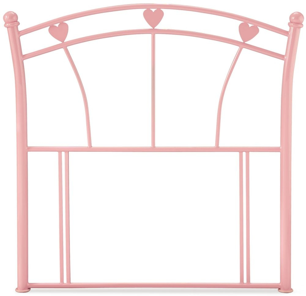 Serene Jemima Pink Gloss Metal Headboard - 3ft Single