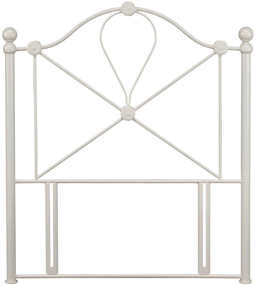 Serene Lyon Ivory Gloss Metal Headboard - 3ft Single
