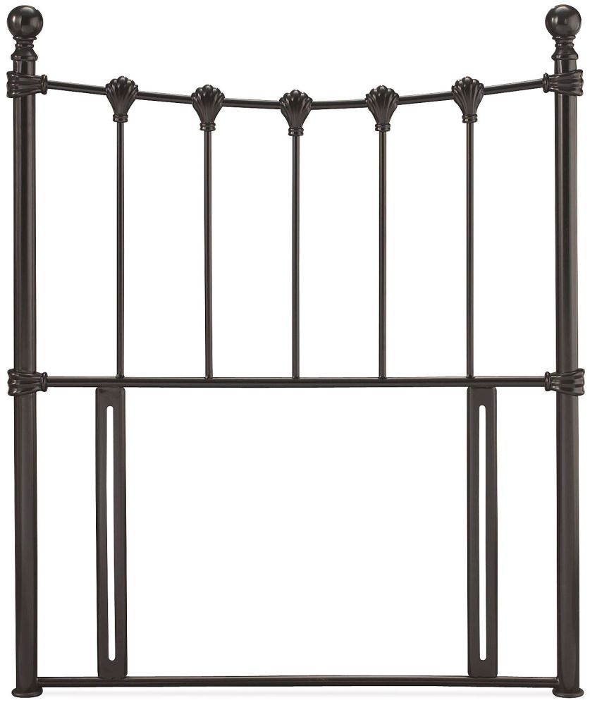 Serene Marseilles Black Metal Headboard - 3ft Single