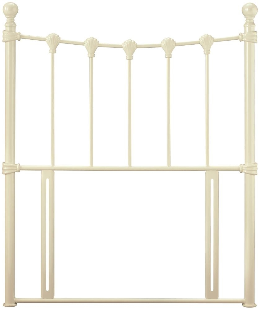 Serene Marseilles Ivory Gloss Metal Headboard - 3ft Single