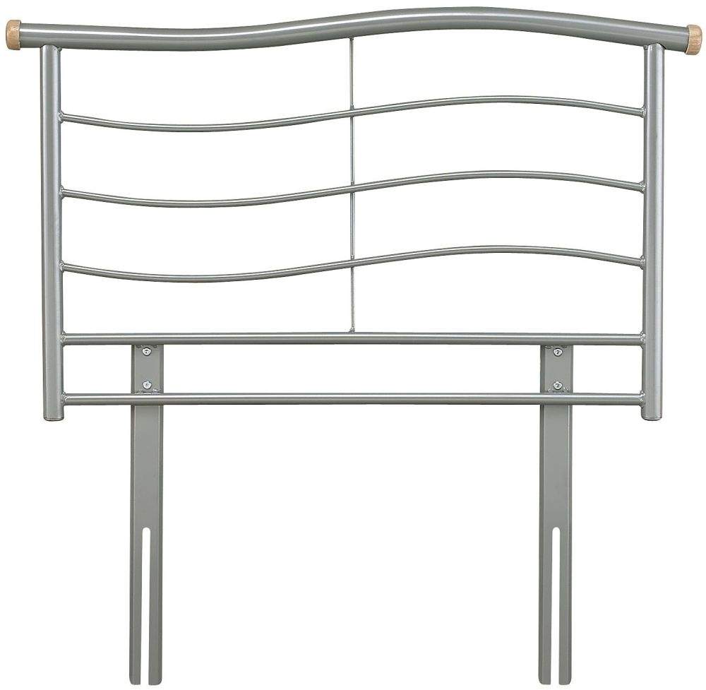 Serene Waverly Silver Metal Headboard - 3ft Single