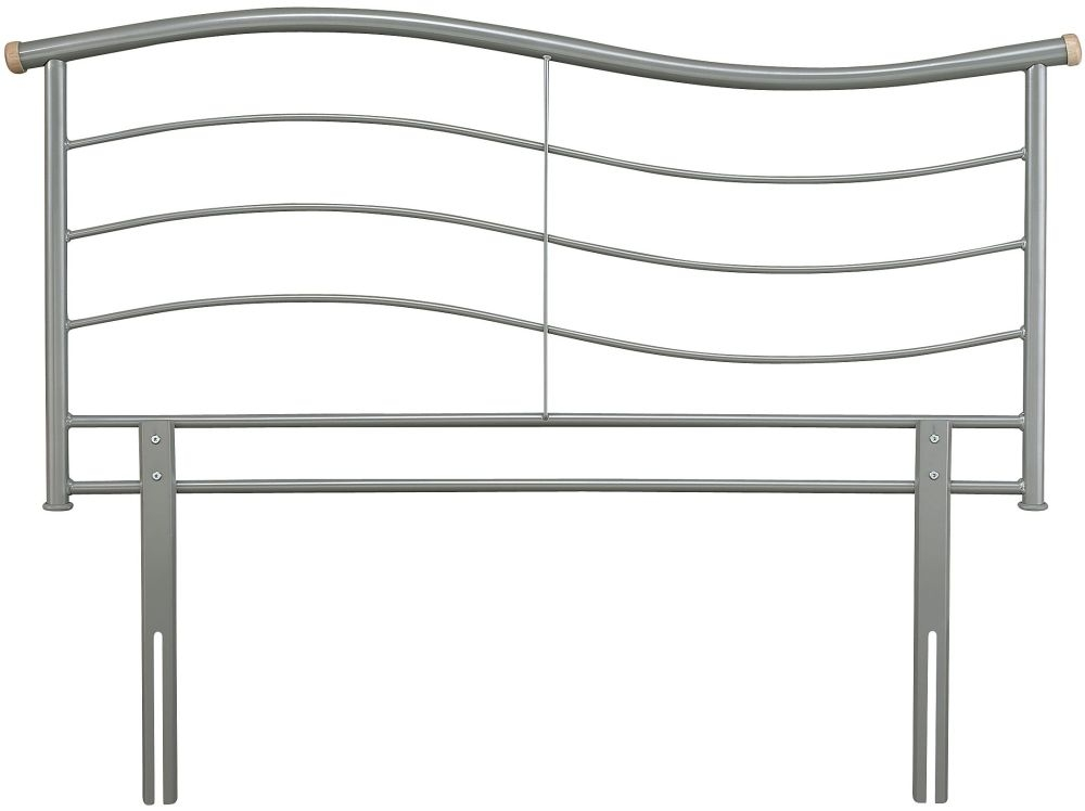 Serene Waverly Silver Metal Headboard