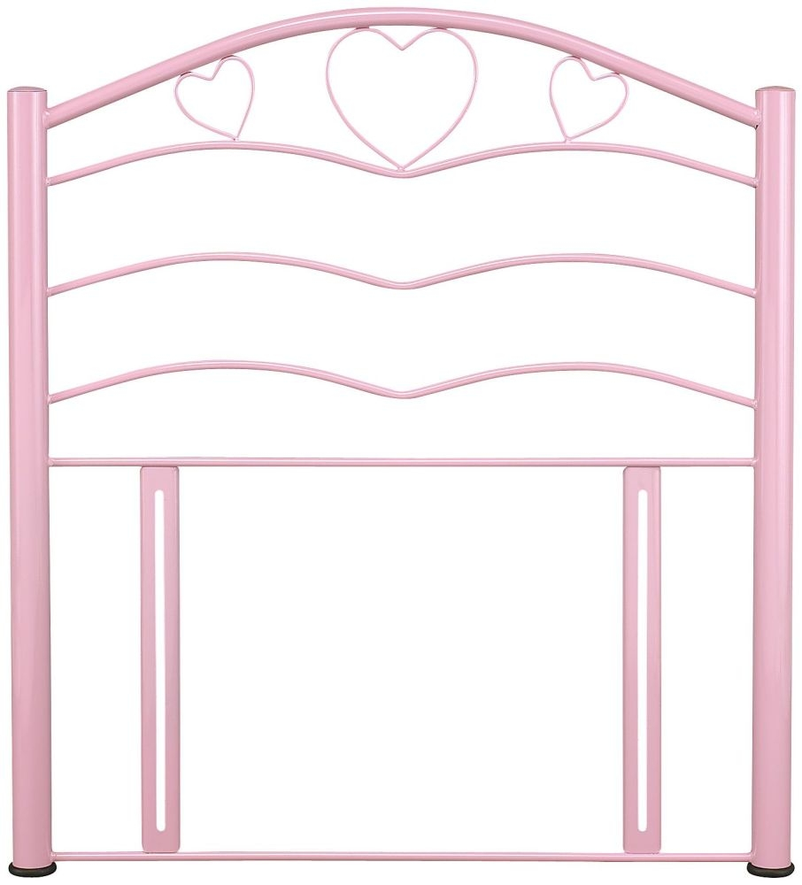 Serene Yasmin Pink Gloss Metal Headboard - 3ft Single
