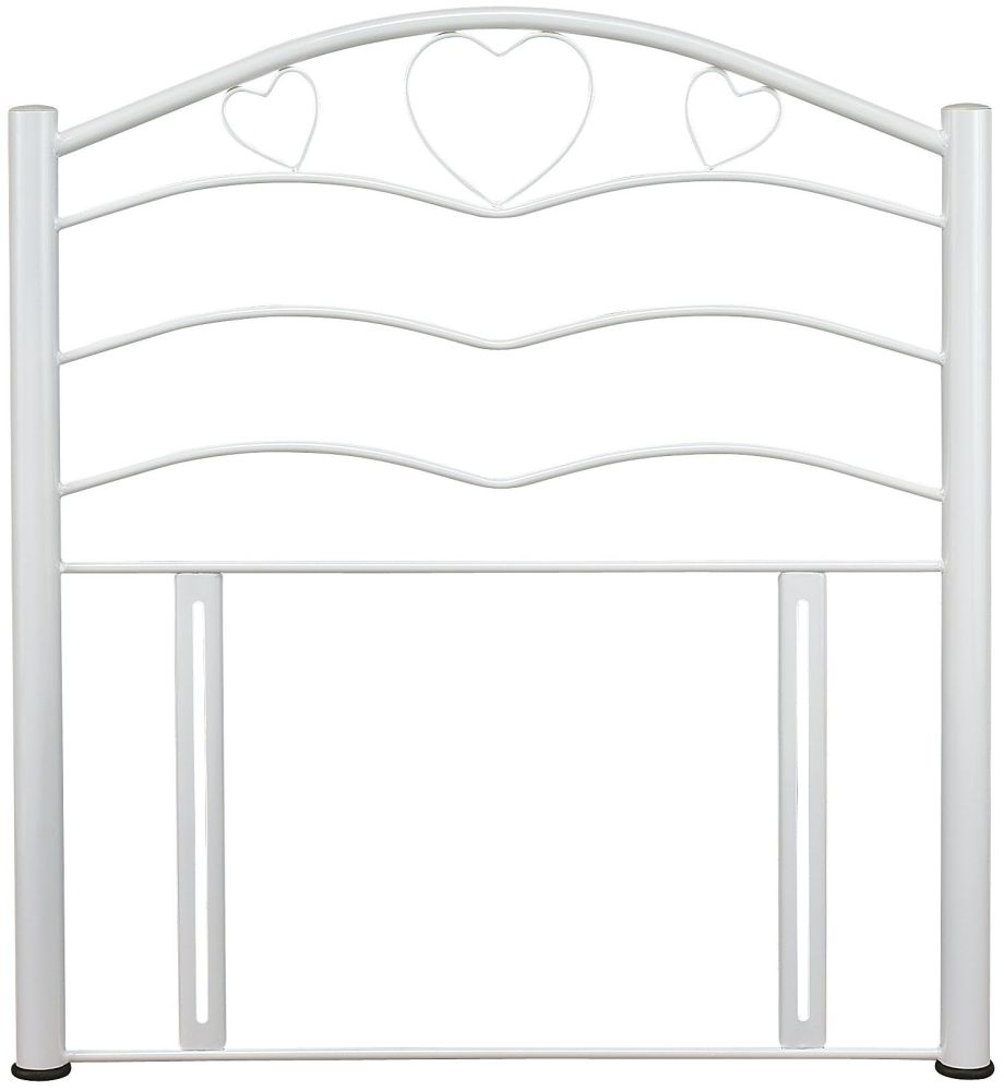 Serene Yasmin White Gloss Metal Headboard - 3ft Single