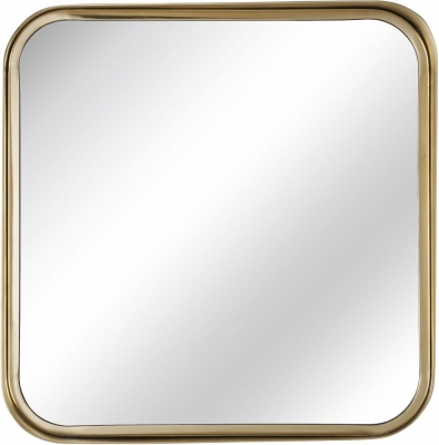 Serene Assam Gold Square Mirror - 53cm x 53cm