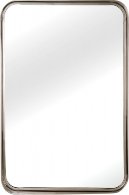Serene Assam Nickel Rectangular Mirror - 62cm x 91cm