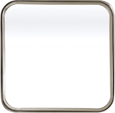 Serene Assam Nickel Square Mirror - 53cm x 53cm