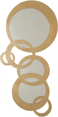 Serene Bangalore Gold Decorative Mirror - 43cm x 85cm