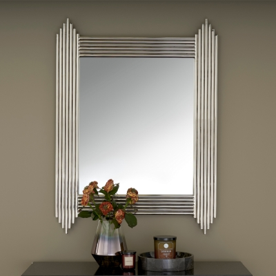 Serene Jaipur Nickel Rectangular Mirror - 76cm x 102cm