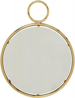 Serene Kai Gold and Chrome Medium Round Wall Mirror - 66cm x 83cm