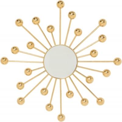Serene Silas Gold Round Wall Mirror - 130cm x 130cm
