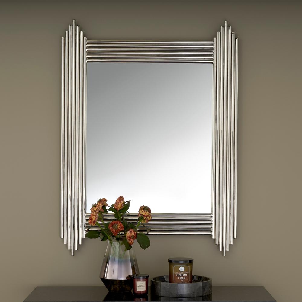Serene Jaipur Nickel Rectangular Mirror - 76cm x 102cm