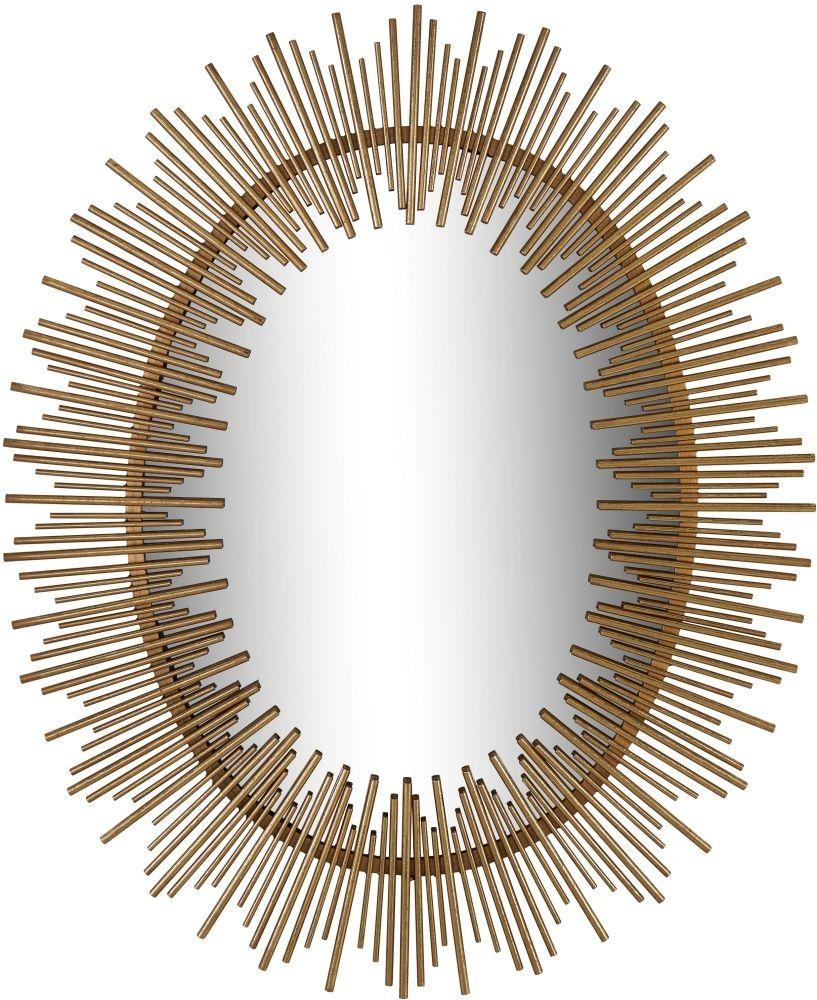 Serene Orai Gold Sunburst Mirror - 86cm x 107cm