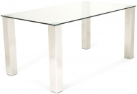 Serene Murcia Large Dining Table - Glass and Chrome