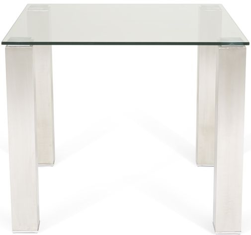 Serene Murcia Square Dining Table - Glass and Chrome