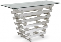 Serene Nova Console Table - Glass and Chrome