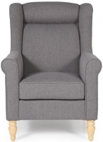 Serene Glasgow Grey Fabric Chair