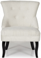 Serene Melrose Pearl Fabric Chair