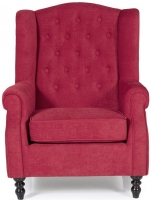 Serene Perth Red Fabric Chair