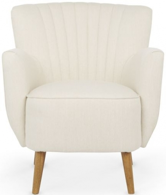 Serene Alloa Cream Fabric Chair
