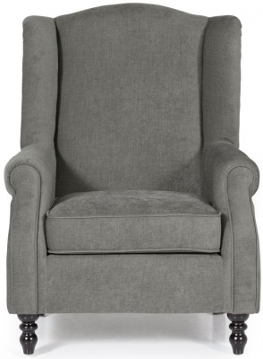 Serene Ayr Grey Fabric Chair
