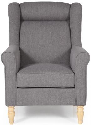 Serene Glasgow Grey Fabric Chair