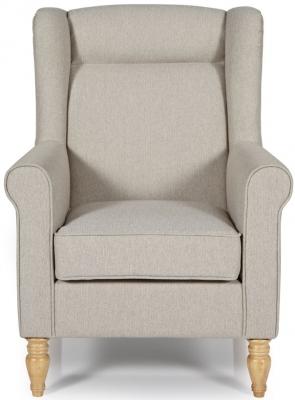 Serene Glasgow Latte Fabric Chair