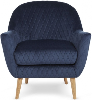 Serene Hamilton Blue Fabric Chair