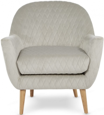 Serene Hamilton Silver Fabric Chair