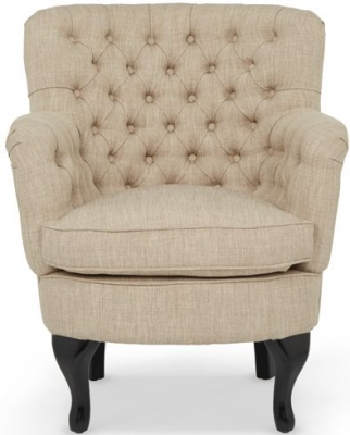 Serene Irvine Mink Fabric Chair