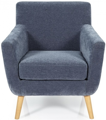 Serene Kelso Blue Fabric Chair